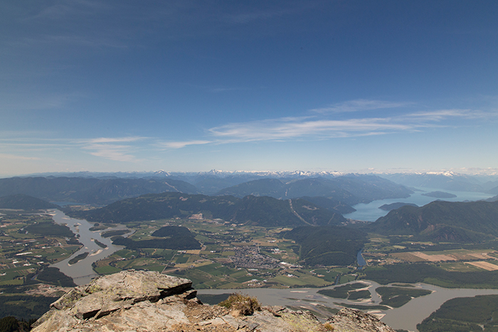 veiw from peak of cheam looking over the fraser valley